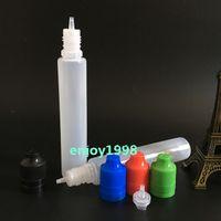 Wholesale Box Dark Green Colorful ChildProof Tamper Lids ML Pen Shape Unicorn Bottles For E Liquid E Juice Smoke Plastic Bottles