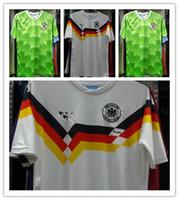 Wholesale Retro Vintage World Cup soccer jerseys Klinsmann Lothar Matthaeus Andreas Brehme Schweinsteiger soccer jerseys retro soccer jerseys
