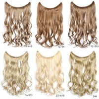 Wholesale 10PCS Synthetic Clips in Hair Extensions Heat Resistant Fiber Clips Hairpiece Curly Wavy inches cm grams Colors TREASURE