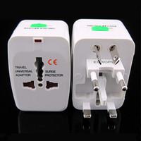 Wholesale EU AU UK US To Universal World Traveling AC Power Plug Convertor Adapter Socket
