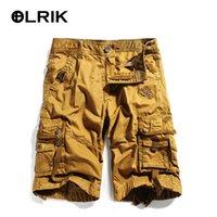 bib cargo shorts - OLRIK NEW Summer Mens Overalls Shorts Cotton Knee Length Cargo Shorts boys bib Overall Shorts Joggers Trousers