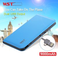 battery cable manufacturers - WST mAh External Battery Power Bank Built in Cable Leather texture Portable Charger Backup Pack Original manufacturer DP633