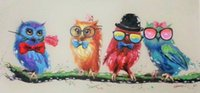 beautiful owl pictures - Decorative Canvas Oil Painting Canvas Beautiful Cute Night Owl Wall Art Modern Animal Art Picture Home Decor No Frame