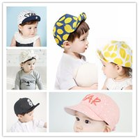 Wholesale Baby Cartoon Hats Caps Kids Peaked Cap Casquette Infant Outdoor Sun Hat Children Hip hop Baseball Caps Boys Girls Cotton Cat Printing Hat