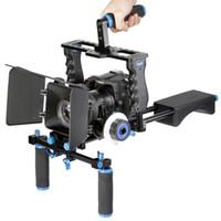 dslr rig - Professional DSLR Rig Shoulder Video Camera Stabilizer Support Film Movie Cage Matte Box Follow Focus For Canon Nikon Sony Camera Camcorder