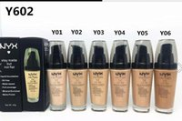 Wholesale 2016 NYX Foundation Makeup Liquid Concealer G Moisture Transparen Perfect Careful BASE Foundation
