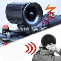 Wholesale New Sounds cycling bike loudspeaker Ultra loud Bicycle Electronic Bell Alarm Siren bike Horn Black