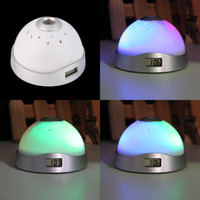 Magic Led Projection Réveil Night Light Starry Sky Star Digital Couleur Changement d'horloge RGB Night Light Alarm Despertador