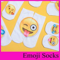 Wholesale 2016 New Style Emoji Sock Slippers Printing Cartoon Socks Men Women Socks Ankle Socks Teenagers Socks Boys Girls Lovely Socks Low Cut Socks