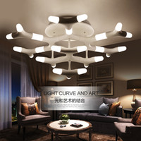 antler knob - ceiling lights led antler shape lamp European post modern simple romantic warm pendant light fixture for living room bedroom CE ROHS