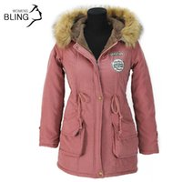 Wholesale Thickening Parkas Winter Jacket Women Coats Female Outerwear Plus Size Casual Long Down Cotton Wadded Lady Woman Fashion Warm