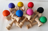 Wholesale Wood Game Toys Kendama Ball Big Size cm Kendama Ball Japanese Traditional Wood Game Toy Education Gift Children Toys Colors Available
