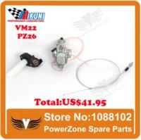 Wholesale MIKUNI Carburetor VM22 mm PZ26 Visble Throttle Settle Reinforced Cable Fit cc cc GPX KAYO IRBIS Motorcycle Dirt Bike