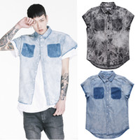 big and tall ties - New Fashion Mens Summer Designer Clothes Streetwear Big And Tall Clothing Tie Dye Fear Of God Men Jeans Denim Shirt