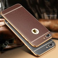 Wholesale For iphone Plus Luxury Litchi Grain Painting Soft TPU Back Cover Case For iPhone Plus Phone Bag Fundas Coque New Arrive