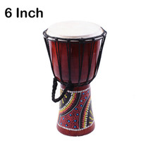 Wholesale Djembe Drummer Percussion Hand Drum inch Classic Painting Wooden African Style