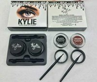 Wholesale Kylie Jenner Eyeliner Gel Waterproof Makeup Eye Liner Gel Cosmetics Make Up Black Brown Colors DHL