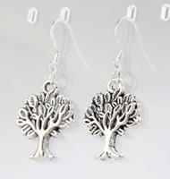 animal earring tree - 2016 HOT Antique Silver Tree Of Life Charm Earrings Silver Fish Ear Hook Chandelier E361 x16 mm