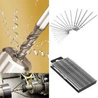 Wholesale Mini HSS Micro High Speed Steel Twist Drill Bit Set Model Craft With Case Repair Parts mm mm