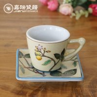 china tea sets - Graceful hand Painted Tea Cup Saucer floral pattern china HIGH QUALITY Arts and crafts painting chinese Classical style drawing ceramics