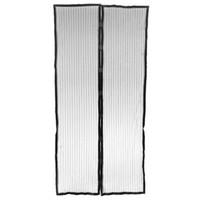 Wholesale door window curtain rods EWS Hands free Magic Mesh Magnetic Screen Door Curtain Anti Mosquito Bug Black door window curtain rods