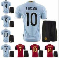 army men sets - Euro Cup Belgium Jersey Kits Home Away EDEN HAZARD DE BRUYNE KOMPANY VERTONGHEN VERMARLEN LUKAKU Shirts Belgium Soccer Sets