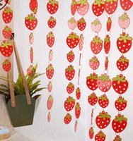 Wholesale door curtain cute strawberry PVC plastic curtain home decoration Decorative Curtain christmas decorations new year decor natal