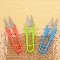 Wholesale Manganese Steel U Shape Clippers Sewing Trimming Scissors Nippers Embroidery Thrum Newest GD