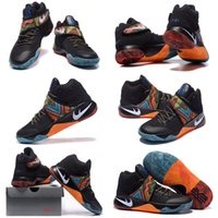 Cheap 2016 Kyrie Irving 2 Men Basketball Shoes Kyrie 2 BHM Black History Month 828375-099 Black Multi-color Basketball Kids shoes Size 7-12