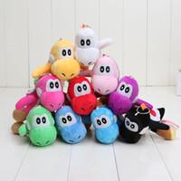 achat en gros de yoshi vente en peluche-Vente chaude Super Mario Bros Yoshi peluche keychain 4incn doux Peluche Anime Plush jouets 10 couleurs mélangées