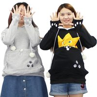 Cat Lovers Hoodies Avec Kawaii Cat Cuddle Pouch Mewgaroo Nyangaroo Dog Pet Hoodies Pour Casual Kangaroo Hoodies Avec Ore Sweatshirt 3XL
