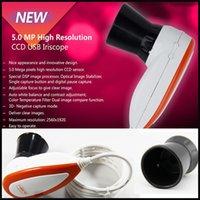 Wholesale NEW MP High Resolution USB Skin Hair Left Right lamp Iriscope Iridology camera Scope Analysis with Pro Software in