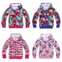 autumn kids games - Kids Poke Games Hoodies Monster Pikachu Coat Pocket Poke Ball Jackets Animal Zipper Cardigan Girls Jumpers Cartoon Sweatshirts Hoodies D106