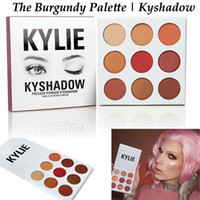 Wholesale IN STOCK Newest Kylie Jenners Burgundy Eyeshadow palette Color set Kylie Jenner Cosmetics The Burgundy Eyeshadow Palette Kyshadow free DHL