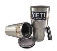 Wholesale 2016 new YETI cups Rambler Colster Vacuu Tumbler Bilayer Stainless Steel Insulation Cups OZ Car Beer Mug car Mug Tumblerful