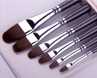 Wholesale Red Sable Hair Artist Art Paint Brush for Watercolor Oil Acrylic Brush set