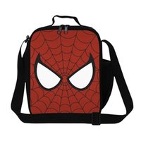 best cooler bags - Cool SpiderMan Cartoon Printed Lunch Bag For Kids Boys Girls Children Insulated Lunch Bag For School Best Gifts Hot Sale Online