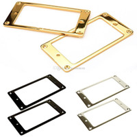 Wholesale 2pcs Gold Plated Metal Flat Humbucker Pickup Mounting Ring for Guitar White E00378 OSTH