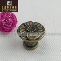 Wholesale Taiwan world Lian Tai good European copper solid wardrobe door handle Antique Brass Handle HK OB