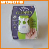 Roto Clipper automatic nail clipper - 2016 new Roto Clipper Electric Nail Trimmer High end Quality White Green automatic Nail clipper Manicure DHL