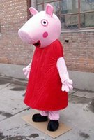 Wholesale Halloween Pig adult Mascot Costume Cartoon Character Fancy Dress One Size Fit Most Clothing