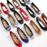 ballerina shoes - PP FASHION Young Ladies Women s Heart Sole Bow Flat Ballerina CLASSIC BALLET in Leather casual business driver shoes