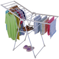 Wholesale Foldable Clothes Laundry Drying Rack Dryer Hanger Stand Garment Clothesline