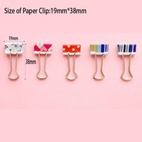 Wholesale 37mm colorful binder paper clip for book Bookmark Desk Accessories Office School Supplies binder clip