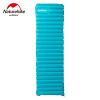 Wholesale Ultralight Outdoor Air Mattress Moistureproof Inflatable Air Mat With TPU Camping Bed Tent Camping Mat Sleeping Pad blue ornage