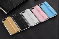 apple cigarettes - For iphone7 Luxury Metal Plastic Rechargeable Cigarette Lighter Cover For Apple iPhone s plus with real box