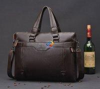 Wholesale 2016 Men Casual Briefcase Business Shoulder Leather Messenger Bags Computer Laptop Handbag Men s Travel Bags