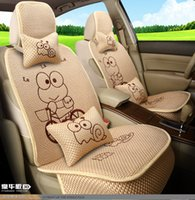 animal shaped chairs - frog prince car seats covers set cute cartoon animal shaped summer auto chairs cover full set interior accessories girl s car decoration