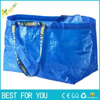 advertising packing bag - New hot IKEA Woven packing Bag Eco friendly Resuable Handbag Advertising Gift environmental protection blue corlor carrying bag