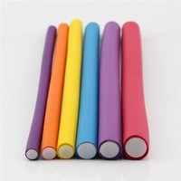 Wholesale Hair Curlers Pearl Cotton Hair Curlers Curly Hair Tool Bar Omnipotent Sponge Opp Bag Packing Have Ten Colors Allow To Make Choice Styling